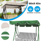 Swing Top Seat Cover Canopy Replacement Waterproof Porch Patio Outdoor 66x45''