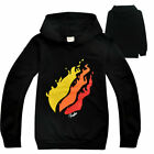 Black Prestonplayz Personality big kids hoodies with long sleeves for boys