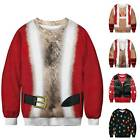 Christmas Mens Womens 3D Sweatshirt Casual Jumper Couple UGLY Sweater Pullover