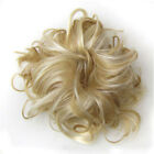 thick messy bun hair piece scrunchie updo wrap hair extensions real as human cax