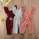 US Newborn Toddler Kid Baby Girl Clothes Ruffle Romper Jumpsuit Outfits Sunsuit