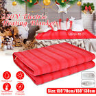Queen Size Electric Heated Blanket Flannel Fast Heating W/ 3 Gear Control 220V image