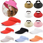 Mens Womens Visor Sun Hat Sport Outdoor Adjustable Tennis Golf Summer Hiking Cap