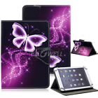 """Butterfly Printed For 7"""" 8"""" 9.7"""" 10.1"""" Tablet Universal Leather Case Stand Cover"""