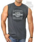 Harley-Davidson Mens Spoked Trademark B&S Charcoal Sleeveless Muscle T-Shirt $14.99 USD on eBay