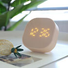 Silent Square Small Snooze Alarm Clock W/ Night Light Bedside Table Travel Clock