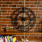 Vintage Iron Wall Clock Retro Roman Numerals Kitchen Home Antique Watches Decor