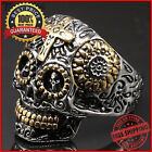 Gothic+Skull+Ancient+Design+Ring+Stainless+Steel+Hiphop+Fashion+Jewelry+For+Men