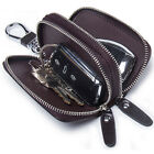 Men's Genuine Leather Car Key Holder Key Chain Case Wallet Holder House Key Bag