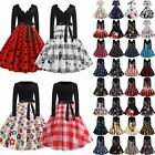 Womens Rockabilly Vintage Swing Dress Valentine's Day Party Ladies Fancy Dresses