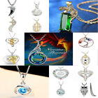 Fashion Women 925 Silver Gemstone Pendant Necklace Wedding Bridal Fine Jewelry