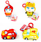 Transformers Clip Bots Bumblebee & AutoBot Hot Rod Backpack Key chain Plush NEW