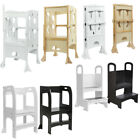 Kids Step Stool Learning Tower Stool Toddler Kitchen Helper Wood Safety Stool