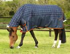 *New Style* Mark Todd MEDIUMWEIGHT COMBO TURNOUT RUG 250g 600d Navy/Orange