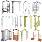 Garden Arch Gate Metal Wooden Decorative Pergola Rose Archway Plant Climbing UK