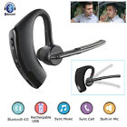 Wireless Headset Bluetooth Ear Hook Earphone Handsfree For Android IOS Samsung