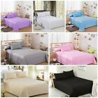 100% BRUSHED COTTON THERMAL Flannelette Flat sheet single double king super king