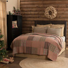VHC Queen King Twin Patchwork Quilt Blanket Bedspread Cotton Reversible Tan image
