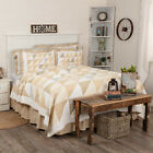 VHC Farmhouse Quilt Joanna Bedding White Cotton Geometric Patchwork image
