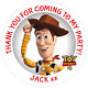 48 Personalised Toy Story 4 WOODY Party Bag Stickers SWEET CONE Labels 40mm