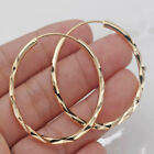 Fashion 18k Gold Plated Hoop Earrings for Women Jewelry Free Shipping A Pair/set image