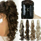 HOT PONYTAIL Jaw Claw Clip in Pony Tail Hair Extensions Extension Long-Hairpiece