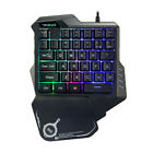 7 Color RGB Backlit USB Mouse & Gaming Keyboard Keypad Single Hand for PC Laptop
