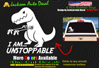Unstoppable T-Rex Funny Dinosaur Kid Cute Car Window Vinyl Decal Bumper Sticker