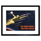 Propaganda USSR Communism Space Rocket Triumph Framed Wall Art Print