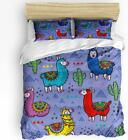 Trendier Super Soft Bedding Sets Duvet Cover Set for Kids,Cartoon Animal Alpaca