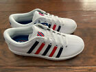 NEW Women's Kswiss Court Pro II CMF Athletic Shoes White Red Blue Size 9.5 10 11