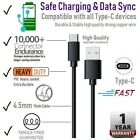 6ft Samsung USB C PVC Cable Type C Fast Charger For Galaxy S8 S9 S10 Plus Note 9