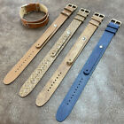 Size 8/9/10/11mm Cow Leather Fixed Lug Trench Army Watch Wrist Strap Band #153C image