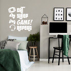 EAT, SLEEP, GAME, REPEAT - Gamers Wall Art Large Vinyl Decal - 47* x 46* - Video