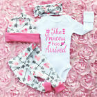 Kyпить Newborn Infant Baby Girl Romper Jumpsuit Bodysuit Headband Clothes Outfits Sets на еВаy.соm