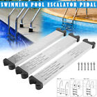 Stainless Steel Swimming Pool Pedal Replacement Ladder Rung Steps With Screws