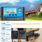 Solar Panel Controller Battery Charge Regulator 12V 24V Auto With Dual USB sh