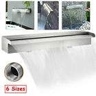 Rectangular Waterfall Pool Fountain Stainless Steel Spillway Waterfall 6 Sizes