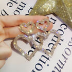 Gorgeous Heart Shaped 925 Silver,gold Hoop Earrings For Women Jewelry A Pair/set