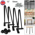4x Premium Hairpin Table Legs + FREE Screws And Corner Protector 8* 12* 16* 28*