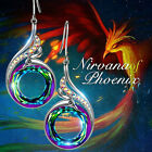 Gorgeous 925 Silver Drop Earrings for Women Crystal Jewelry A Pair/set image