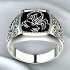 Fashion Scorpion 925 Silver Rings for Men Party Rings Jewelry Size 8-12