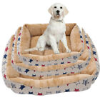 Deluxe Soft Washable Dog Pet Bed Warm Basket Cushion with Fleece Lining Creative