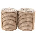 Manila Tan Brown Rope Twisted 3 Strand Natural Fiber Cord for Indoor & Outdoor