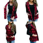Fisace Women Buffalo Plaid Jacket Vest Hooded Sleeveless Lightweight Anoraks She