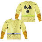 HAZMAT SUIT COSTUME Adult Men's Long Sleeve Tee Shirt SM-3XL Halloween