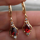 6 Colors 18k Yellow Gold Plated Drop Earrings for Women CZ Earrings A Pair/set image