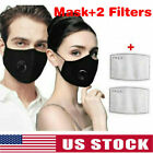 Kyпить 2 Black, washable, reusable, cotton facial masks +4 PM2.5 filters US Sellers на еВаy.соm