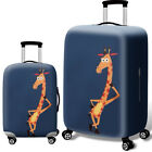 Printed Travel Luggage Cover Protector Elastic Suitcase Bag Dust-proof 18