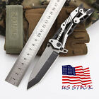 Outdoor Tactical Blade knife Survival Titanium Hunting Camping Folding Knife US